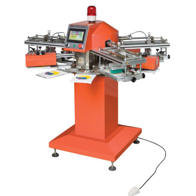 SPF auto socks pcb label rotary screen printing machine