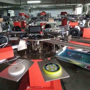 SPF rotary socks T-shirt  screen printing machine/logo printing machine