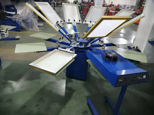 SPM 650 manual 6 head screen printing machine