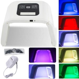 Portable PDT LED phototherapy machine 7 color photon skin regeneration facial care equipment