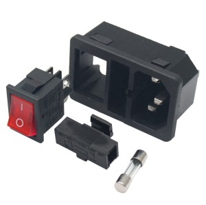 Injection Molding Plastic Electronic Component Connectors Parts