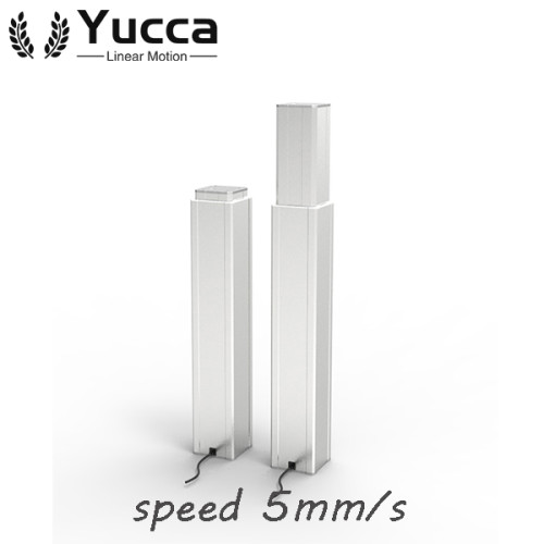 Hot sale adjustable metallic zinc alloy electric telescopic table lifting column 2000N
