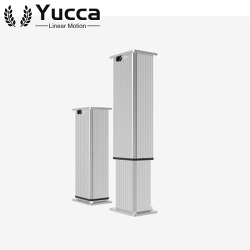High quality metallic zinc alloy height adjust electric industrial lifting column 8000N 4mm/s