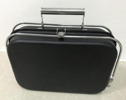 Tool case folding bbq grill of the notebook shape