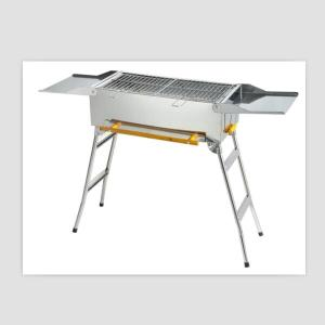 Square fodable BBQ grill with table made of the stainless steel430