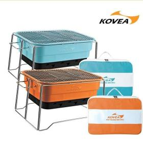 square folding portable bbq grill of with carry bag