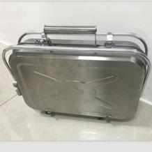 Double cooking area Tool case folding bbq grill of the notebook shape