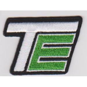 Custom alphabet function letter TE iron patch