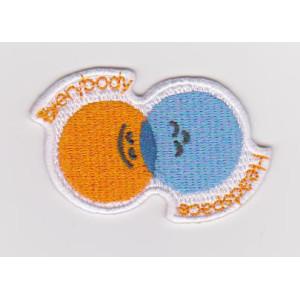 Small Size Custom 100% full embroidery DIY  Iron Onembroidery patch badge small embroidery piece