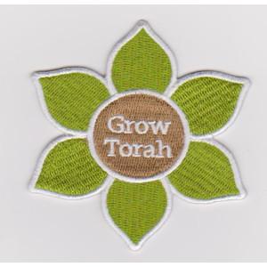 Custom six-leaf flower embroidery patch