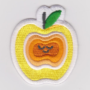 Embroidered mini fruit patch badge applique patch garment