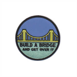 Custom embroidery commemorative badge Bridge embroidery patch