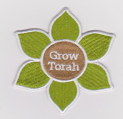 Custom six-leaf flower embroidery patch