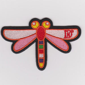 Custom-made high-quality cute animal badge dragonfly embroidered badge