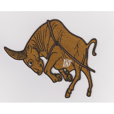 Custom 100% animal embroidered badge calf embroidered patch / Garment Patch
