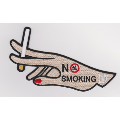 Custom-made large-size embroidered badge patch smoker / no-smoking souvenir badge
