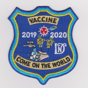Custom 100% embroidered insignia sanitizing water mask anti-virus embroidery patch / Garment Patch