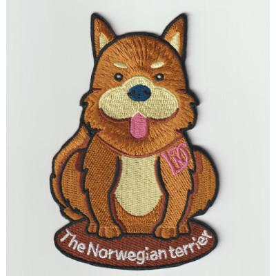 Custom animal cute dog design badge embroidered patch pocket hat
