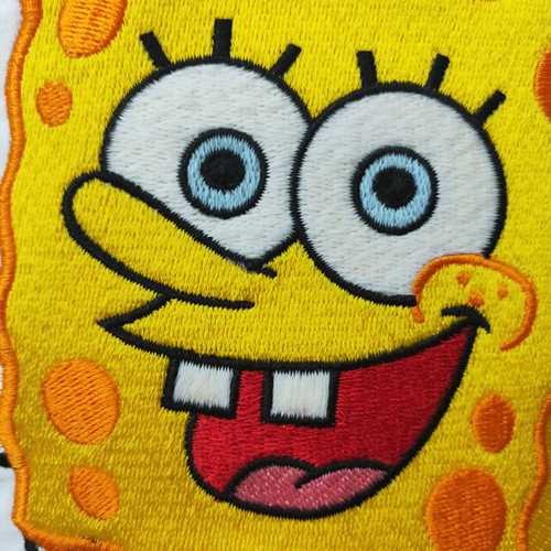 Custom high quality embroidered badge with smile  embroidered patch baby sponge / Garment Patch
