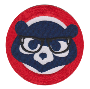 Custom 100% full embroidered bear embroidery patch