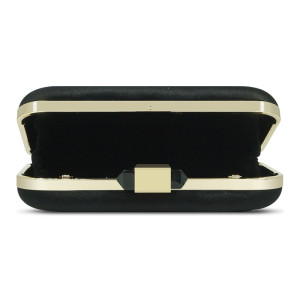 Black velvet removable shoulder strap crystal clutch evening bag