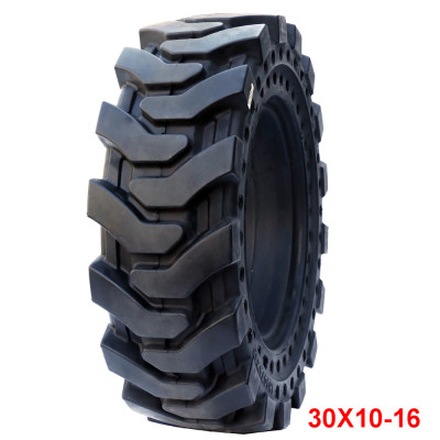 off the road tyres solid tire 30*10-16  for the skid loader