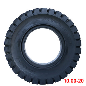 China tire brands  10.00-20 solid tire for forklift tires