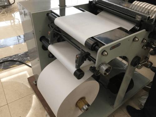 Máquina rebobinadora de corte de papel barata de 450 mm de ancho para paja de papel