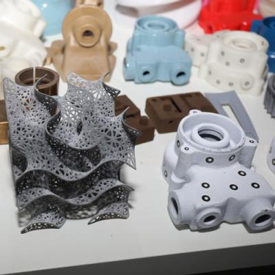 Advanced 3D printing equipment processes precision parts