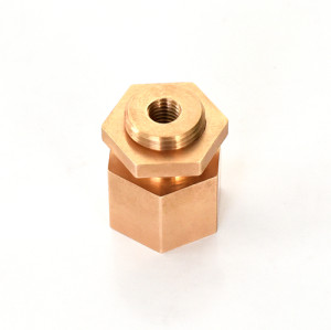 Precision machining of parts of phosphor bronze and other copper materials