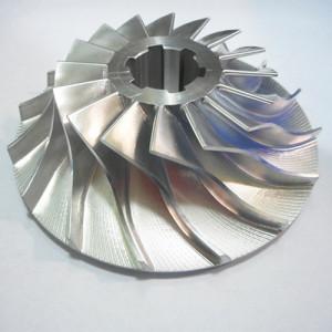 Bagian mesin CNC presisi dari impeller aluminium