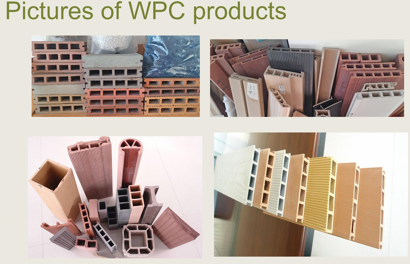 wood plastic wpc machine