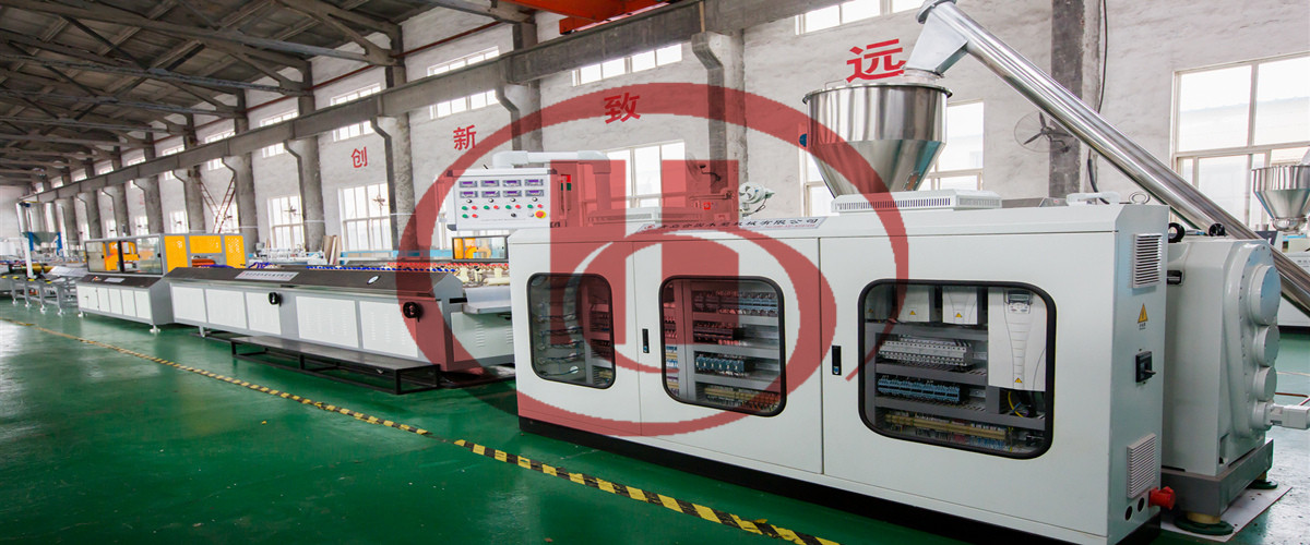 WPC oblique panel making machine