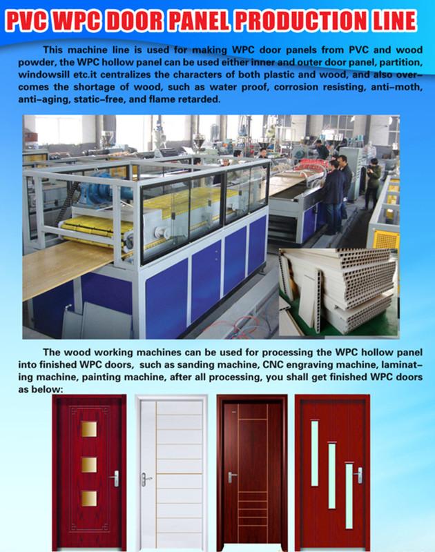 WPC door machine