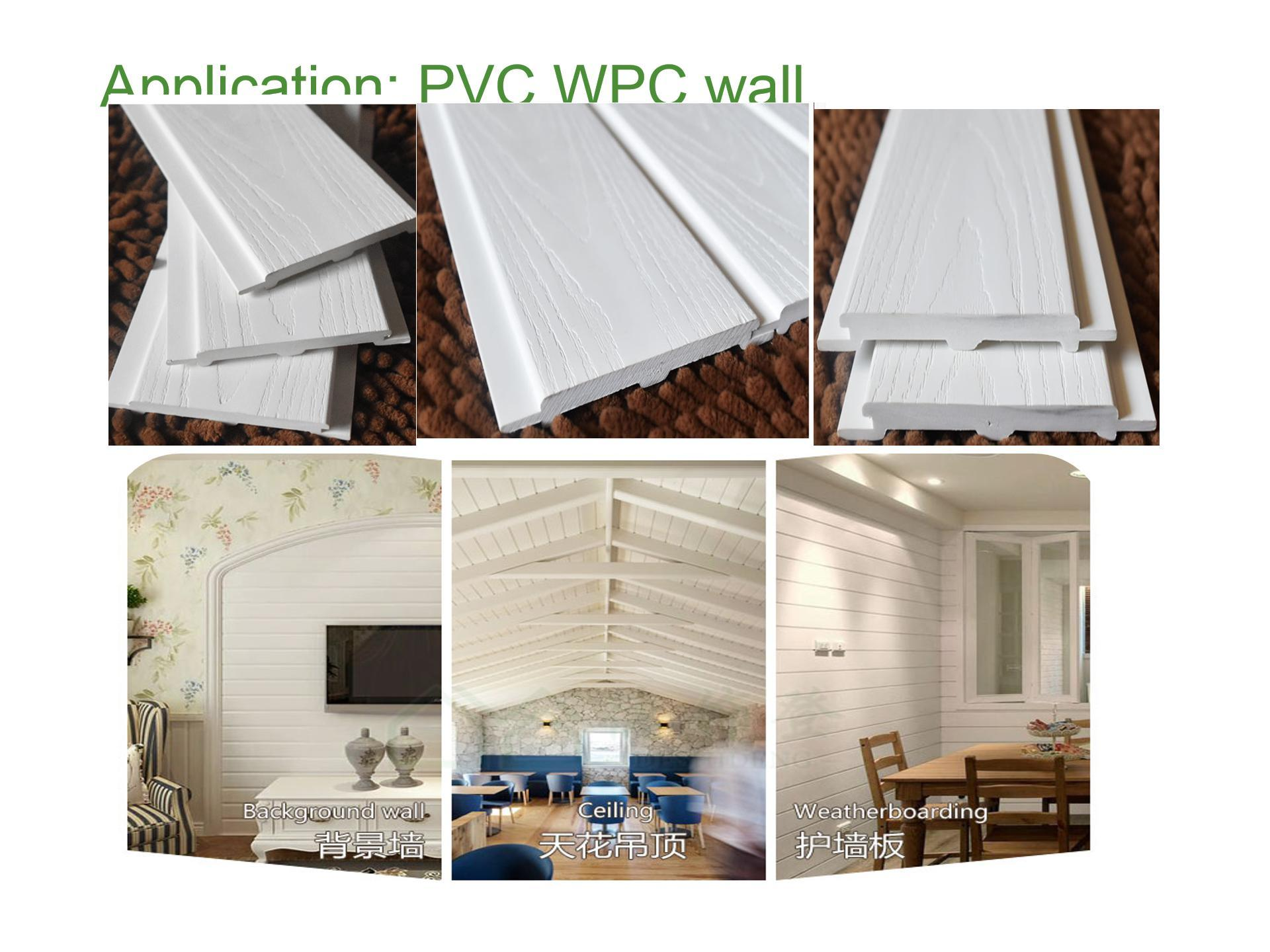 PVC WPC wall panel with embossing