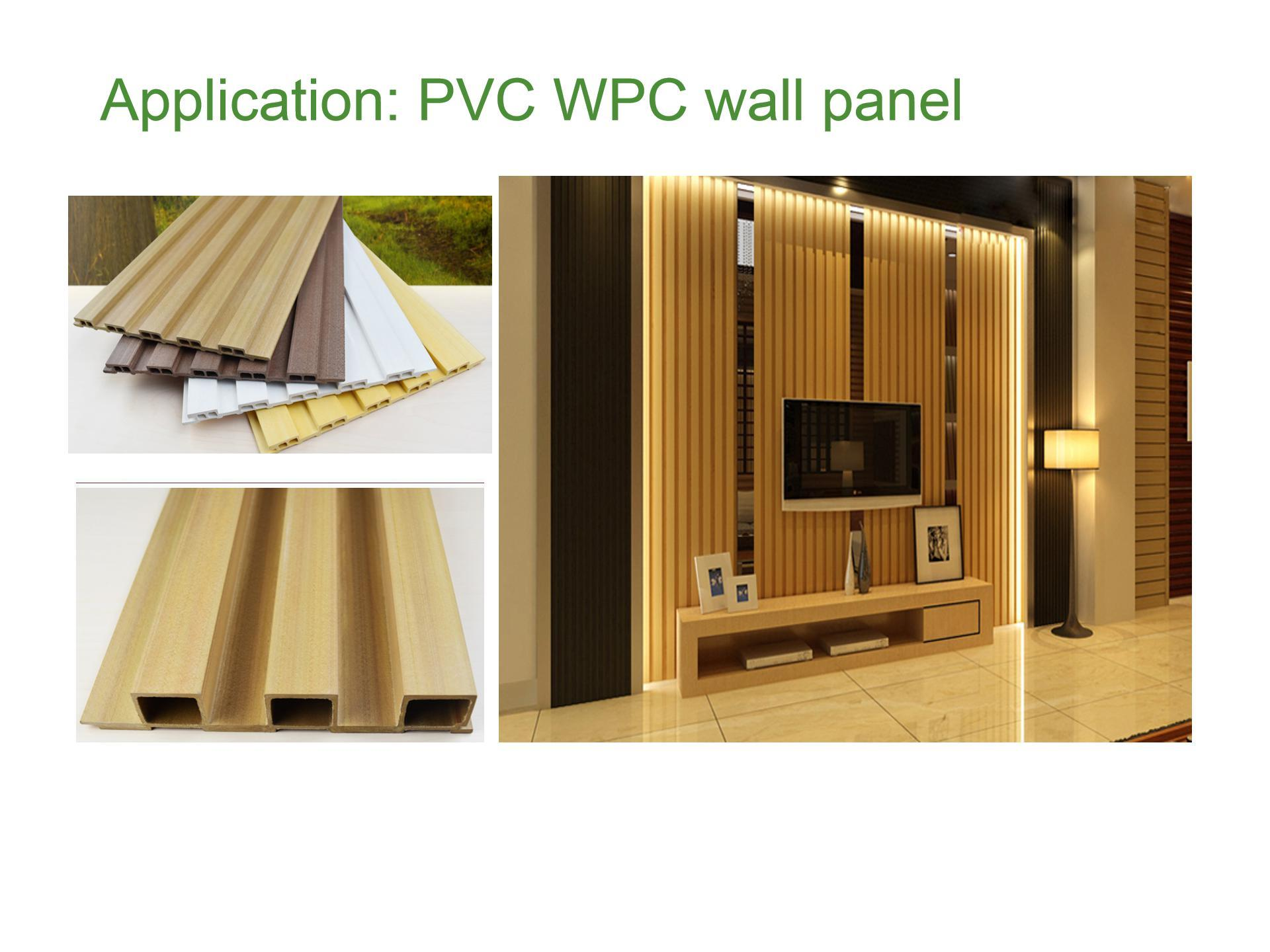 Colorful WPC wall panel installed