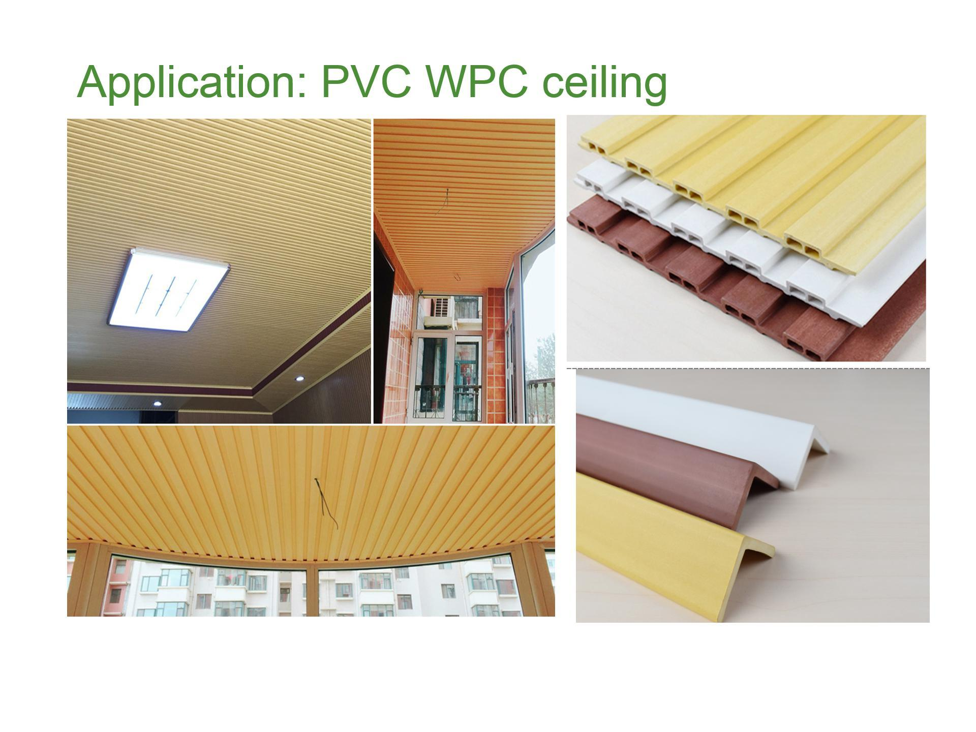 Colorful WPC ceiling installed