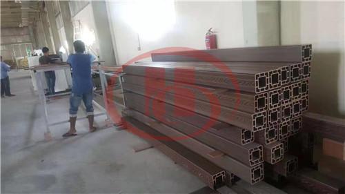 WPC profile machine installed in Qatar