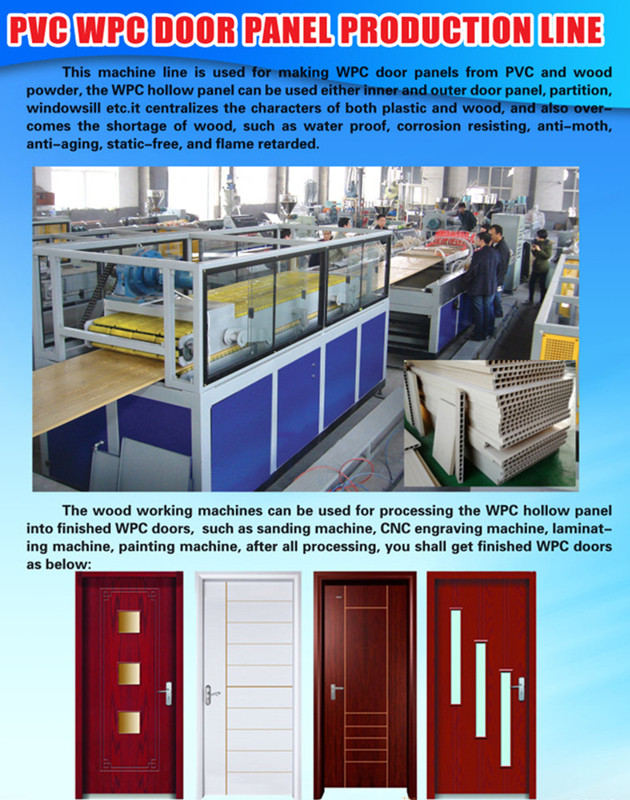 Machine de fabrication de porte de WPC