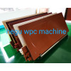 PVC wooden plastic WPC door extrusion making machine with lamination and engraving machine