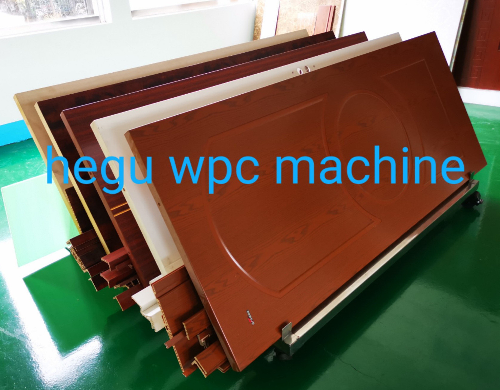 PVC wooden door making machine