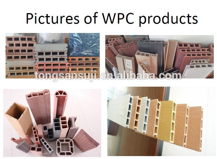 wood plastic machine use reyclced PP/PE plastic and wood powder
