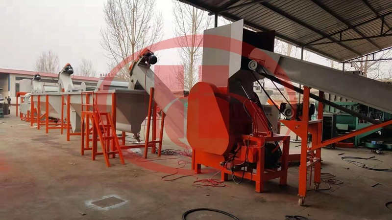 plastic recycling machine PP PE wastage washing and crushing machine