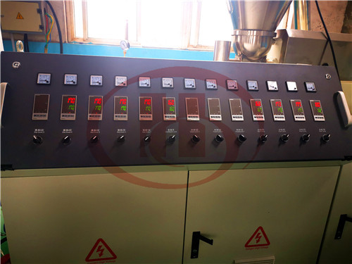 Solid WPC door frame machine for india customer tested in HEGU