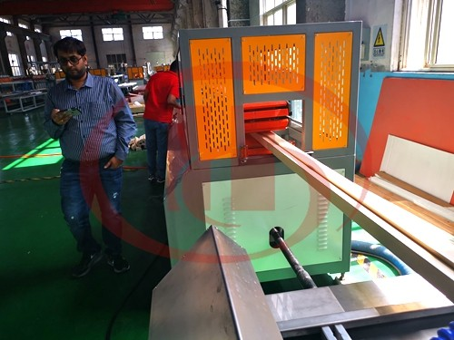 WPC solid door frame machine