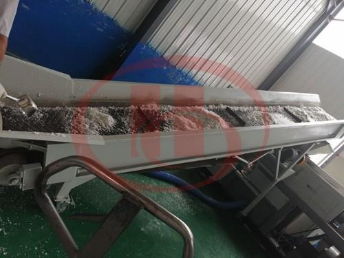 plastic film drying and granulation machine