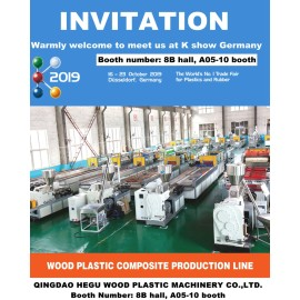 K show 2019 by 13-16th October 2019 as WPC machine professional supplier