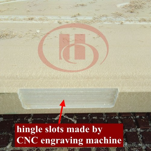 hingle slot made by CNC engraving machine