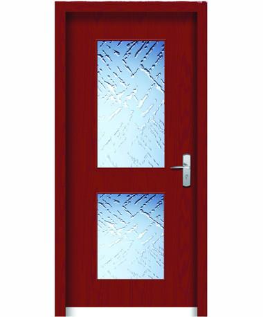 wpc door with glass