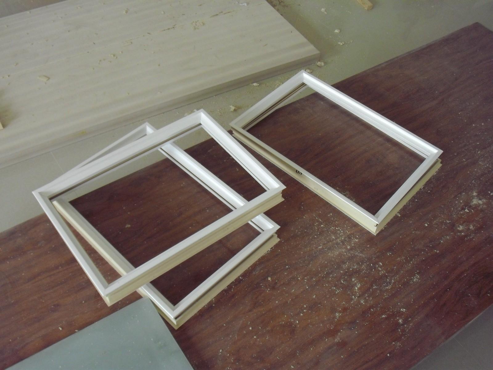 WPC glass frame profile